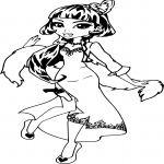 Draculaura avec une robe