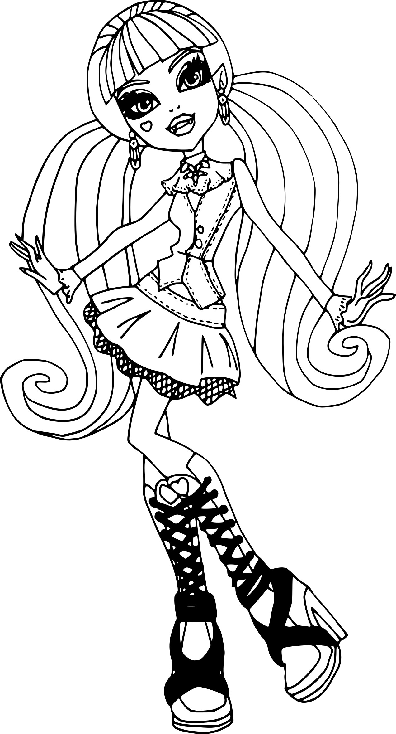 Coloriage monster high draculaura imprimer - Coloriage de monster ...