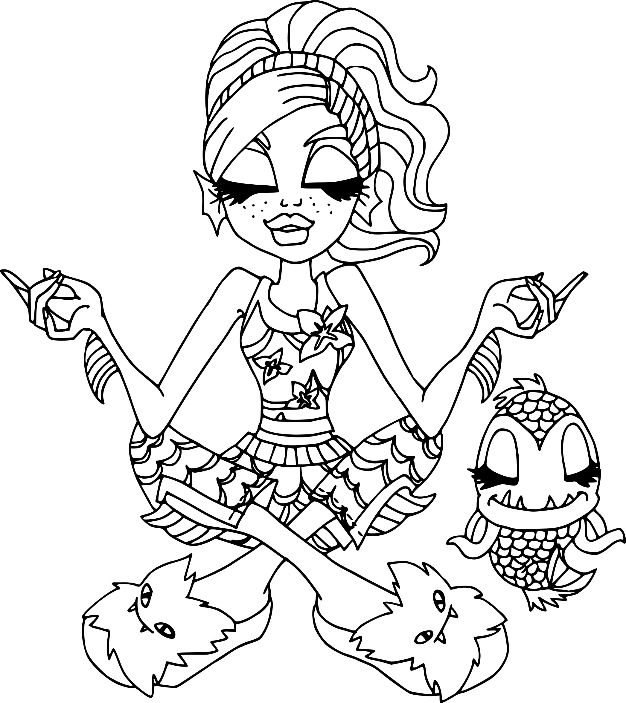 Coloriage monster high lagoona blue imprimer - Coloriage de monster ...