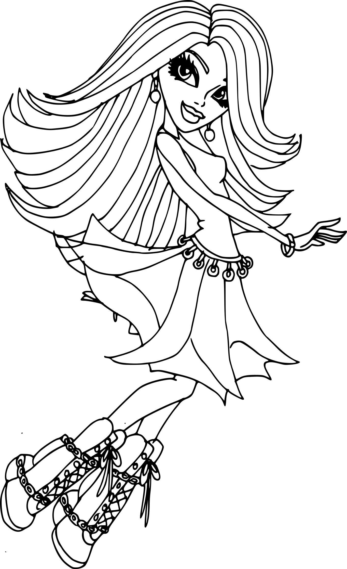 Coloriage Monster High Spectra A Imprimer