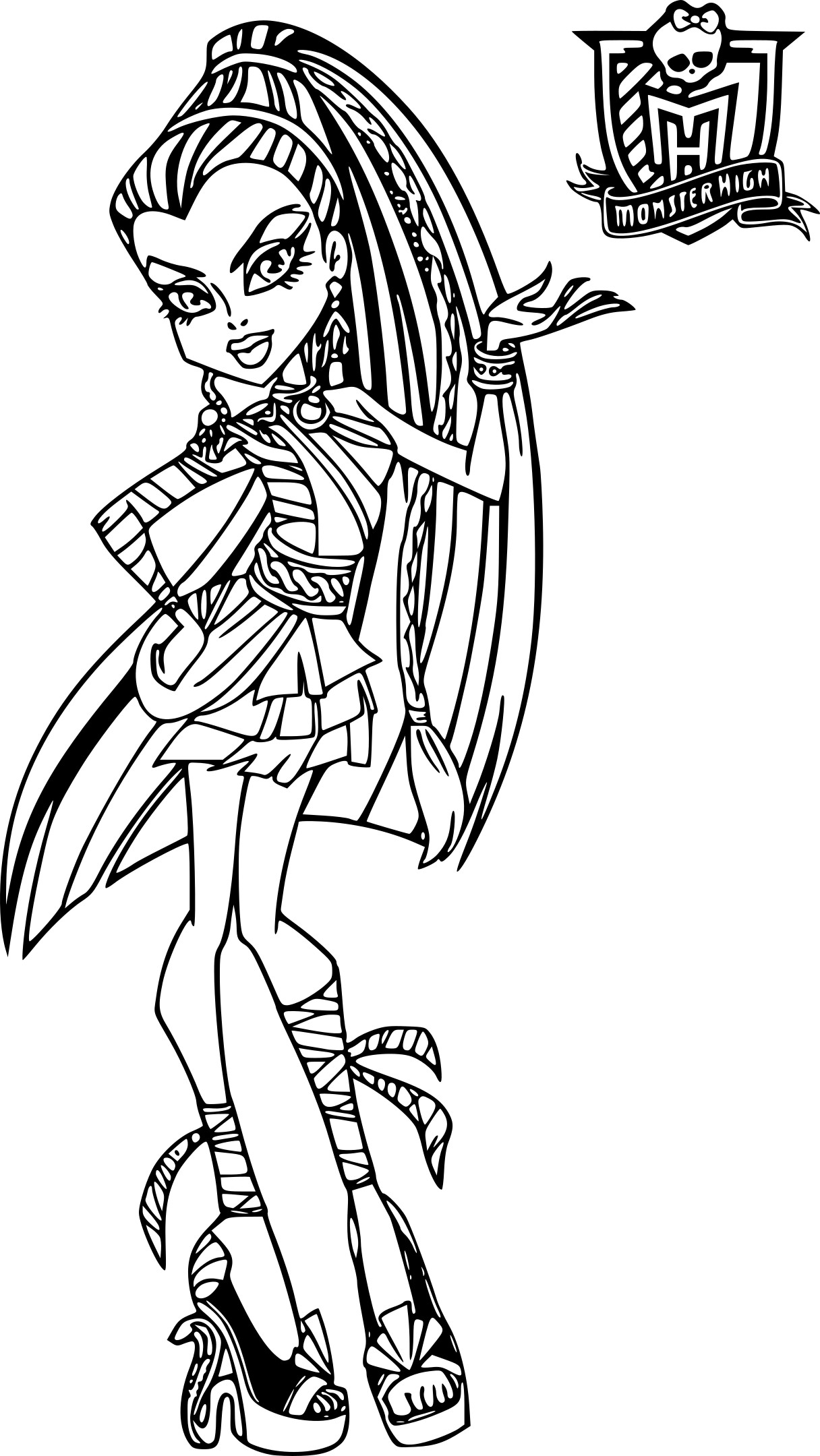 Coloriage Monster High Nefera A Imprimer